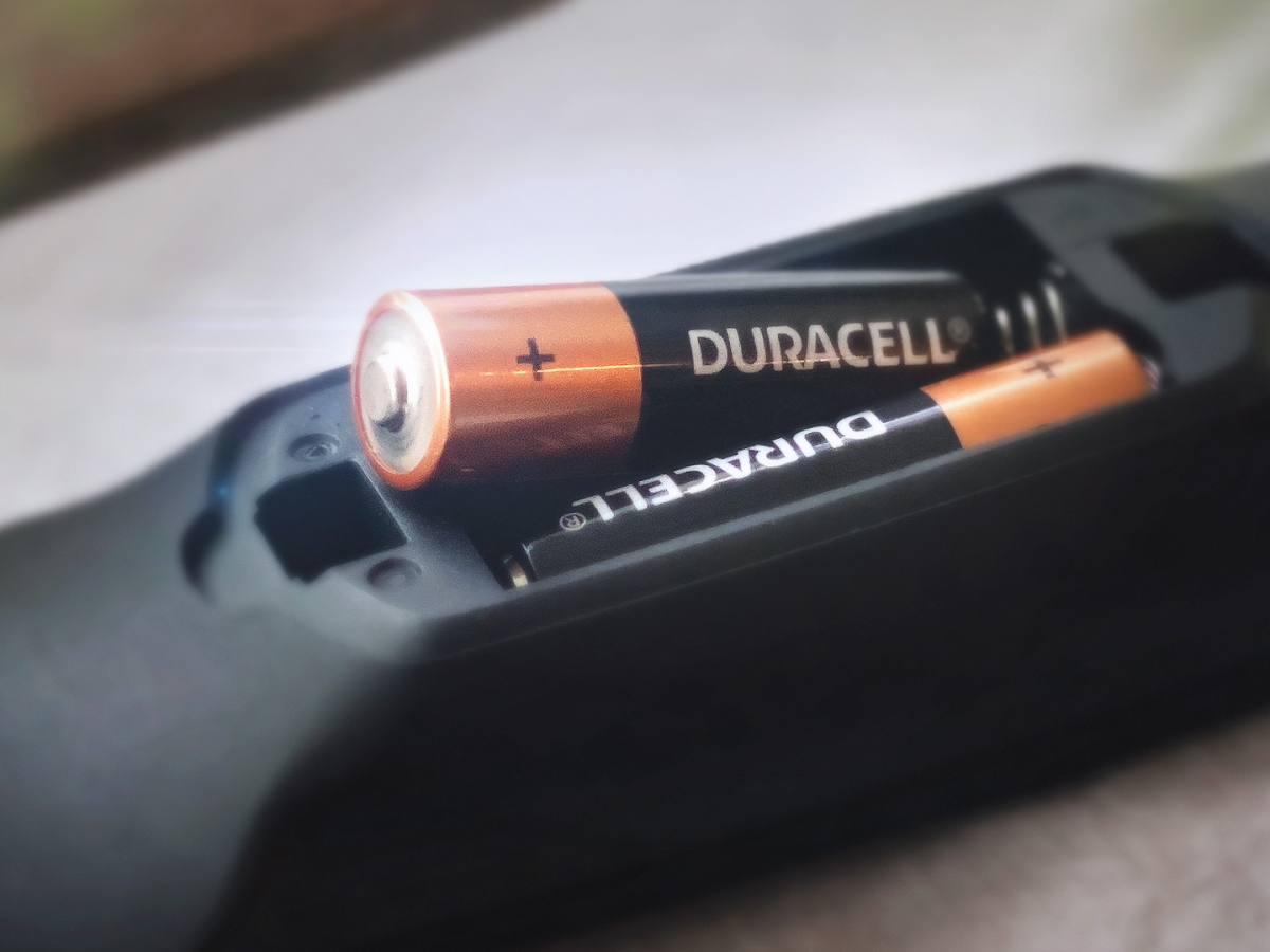 Coppertop batteries in a remote control