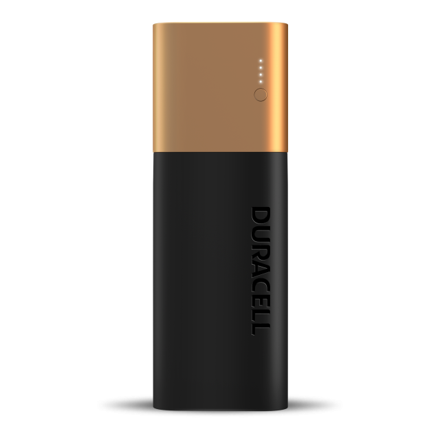 rectangluar black and copper 7 day Powerbank battery